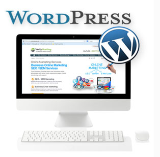 WordPress Hosting Computer Screen